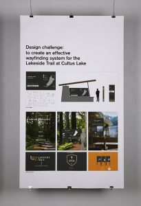 """""""Experimental Design and Wayfinding"""", Karin Jager and Jennifer Deon, Graphic and Digital Design II"""