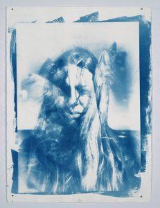 "Zairawet, ""Venezuela my Skin,"" Cyanotype on Watercolour Paper, 29"". x 22"", 2018"