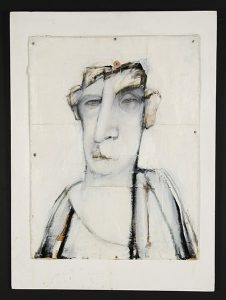 "Bruce Pasdiak, ""Untitled,"" Mixed media on board, 30"" x 22"", 1992, Accession number: 1992.001.001"