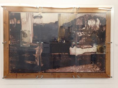 """David Saito, """"Persistence of Memory,"""" Mixed media, 49"""" x 72"""", 1998, Accession number: 1998.001.001"""