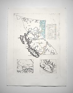 """Crossed Lines"", 2019, Katherine Searle, Copper etching, Print."