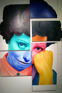 """Laura Dutton, """"Untitled,"""" 5 panel painting, Laura Dutton, 108"""" x 54"""" 2003, Accession number: 2003.002.002"""