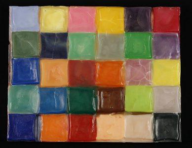 "Trevor Goertzen, ""Crowded Room,"" Wax sculpture, 16 3/4"" x 37"", 2003, Accession number: 2003.004.001"