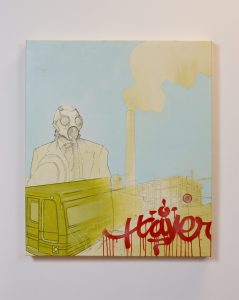 """Kyle Good, """"Untitled,"""" Oil and spray paint on canvas, 2004, Accession number: 2004.004.002"""
