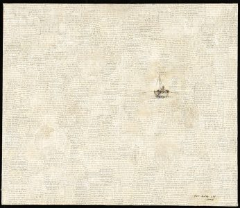 """Yun Dong Lee, """"The Voyage,"""" Mixed media, 19 1/2"""" x 22 1/2"""", 2004, Accession number: 2004.005.002"""