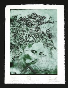 """Lorena Krause, """"Untitled,"""" Etching print, 17"""" x 13"""", 2005, Accession number: 2005.015.001"""