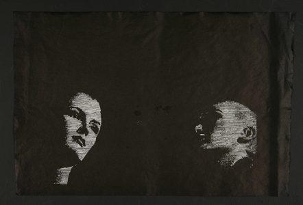 "Lorena Krause, ""Untitled,"" Linocut print, 2005, Accession number: 2005.015.002"