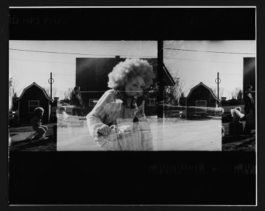 """Paula Funk, """"Love & Duty,"""" Black and white photograph, 17"""" x 21"""", 2006, Accession number: 2006.002.001"""