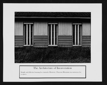 "Ryan Evanoff, ""The Architecture of Incarceration,"" Black and white photograph, 8 1/2"" x 10 1/2"", 2006"