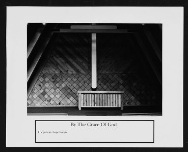 "Ryan Evanoff, ""By the Grace of God,"" Black and white photograph, 8 1/2"" x 10 1/2"", 2006"