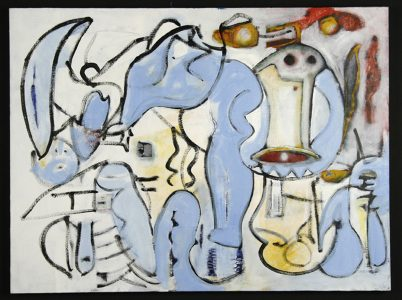"Warren Davis, ""Untitled,"" Acrylic on canvas, 30"" x 40"", 2009, Accession number: 2009.006.001"