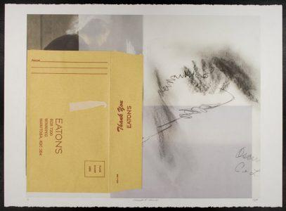 "Hannah Bennet, ""Memoranda I (Version I, II, III, IV),"" Digital print, 28 7/8"" x 35 5/8"", 2011"