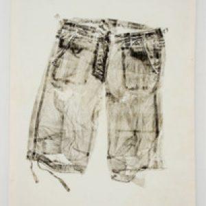 "Michelle Carlson, ""Subsistence,"" Monoprint, 43"" x 32"", 2011"