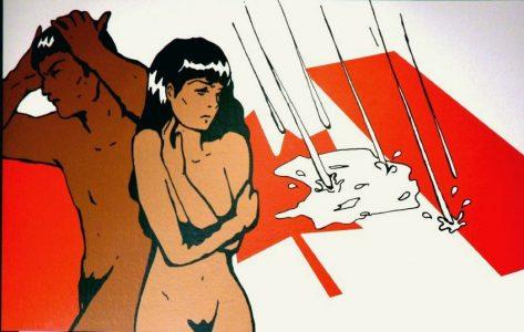 "Melanie Schnidrig, ""Multicultural Delusion,"" Digital print, 49 3/4"" x 77 3/4"", 2012, Accession number: 2012.003.003"