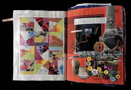 "Dana Mandeville, ""The Book,"" Mixed media, 2017"