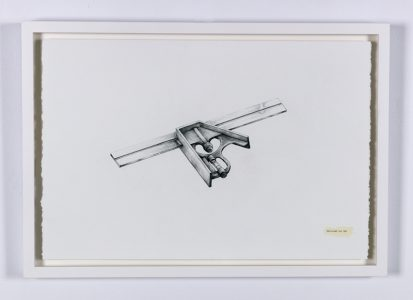 """Albert Woods, """"Dedicated to Dad,"""" Graphite, 2018, Accession number: 2018.004.002"""
