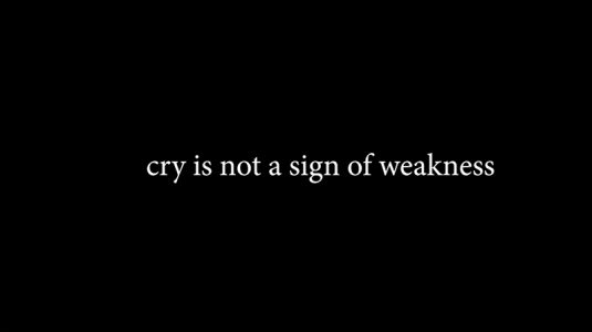 """""""Crying is not a sign of weakness"""", 2019, Kaylee Stamm, Performance"""
