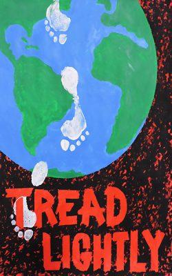 "Dana Mandeville, ""Tread Lightly"", Poster, 39.25"" x 27.5"", 2020"