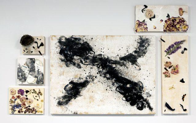 """Unholy"", 2019, Allie Risley, Ecaustic Medium, Wood Cradled Panel"