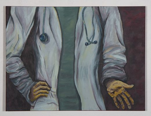 "Kimberly Vandenberg, ""The Return to Equilibrium,""  2019-2020, Acrylic on canvas"