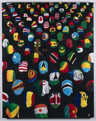 "Michelle Msami, She / Her, ""The Diaspora of Black Lives"", Acrylic, 2021."