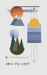 "Anoop Dhaliwal, ""Save the Earth: Local. Global. Balance."",Inkjet Print on Fine Art Print Poster,39.25"" x 27.5"", 2020"