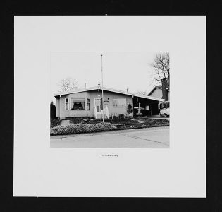 """Kelly McIntosh, """"House Series,"""" Black and white photograph, 16"""" x 17"""", 2006"""