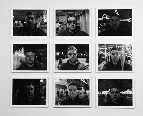 """Disneyland Self-Portraits"", 2018, Chris Janzen, Digital Black and White Prints, Photography"
