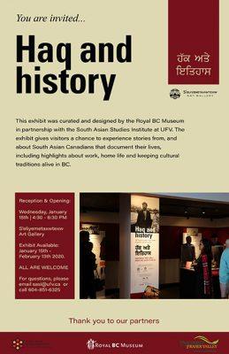 Haq and History poster Jan 2020 web